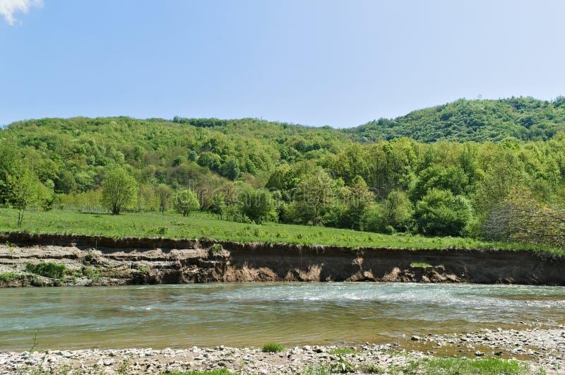 Καθαρίστε το νερό του ποταμού Vlasina στοκ εικόνες