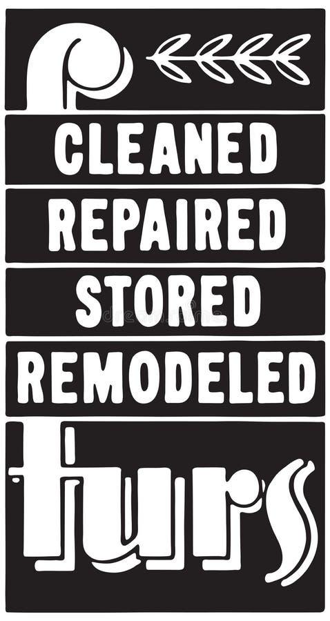 Καθαρισμένες επισκευασμένες γούνες απεικόνιση αποθεμάτων