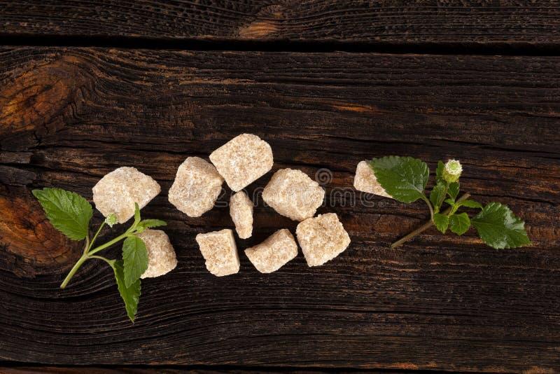 Καθαρισμένη καφετιά ζάχαρη καλάμων στοκ φωτογραφία με δικαίωμα ελεύθερης χρήσης