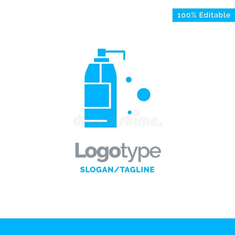 Καθαρισμός, απορρυπαντικό, μπλε στερεό πρότυπο λογότυπων προϊόντων r ελεύθερη απεικόνιση δικαιώματος