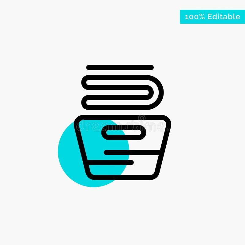 Καθαρισμός, ενδύματα, οικοκυρική, πλένοντας τυρκουάζ διανυσματικό εικονίδιο σημείου κυριώτερων κύκλων απεικόνιση αποθεμάτων