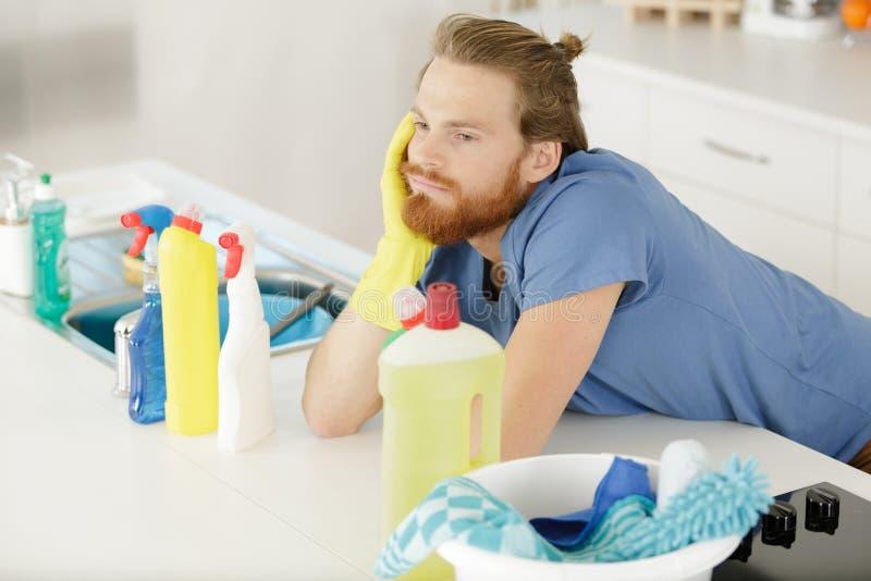 Καθαρισμός προϊόντων καθαρισμού στοκ εικόνα με δικαίωμα ελεύθερης χρήσης