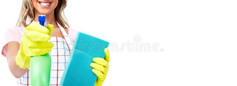 Καθαρισμός σπιτιών στοκ εικόνα
