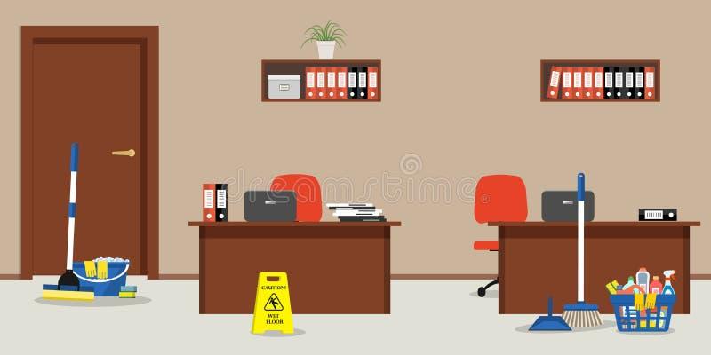 Καθαρισμός στο γραφείο απεικόνιση αποθεμάτων