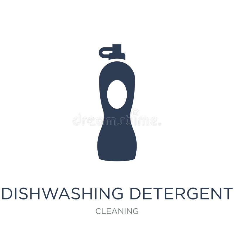 καθαριστικό εικονίδιο πλυσίματος των πιάτων Το καθιερώνον τη μόδα επίπεδο διανυσματικό πλύσιμο των πιάτων αποτρέπει διανυσματική απεικόνιση