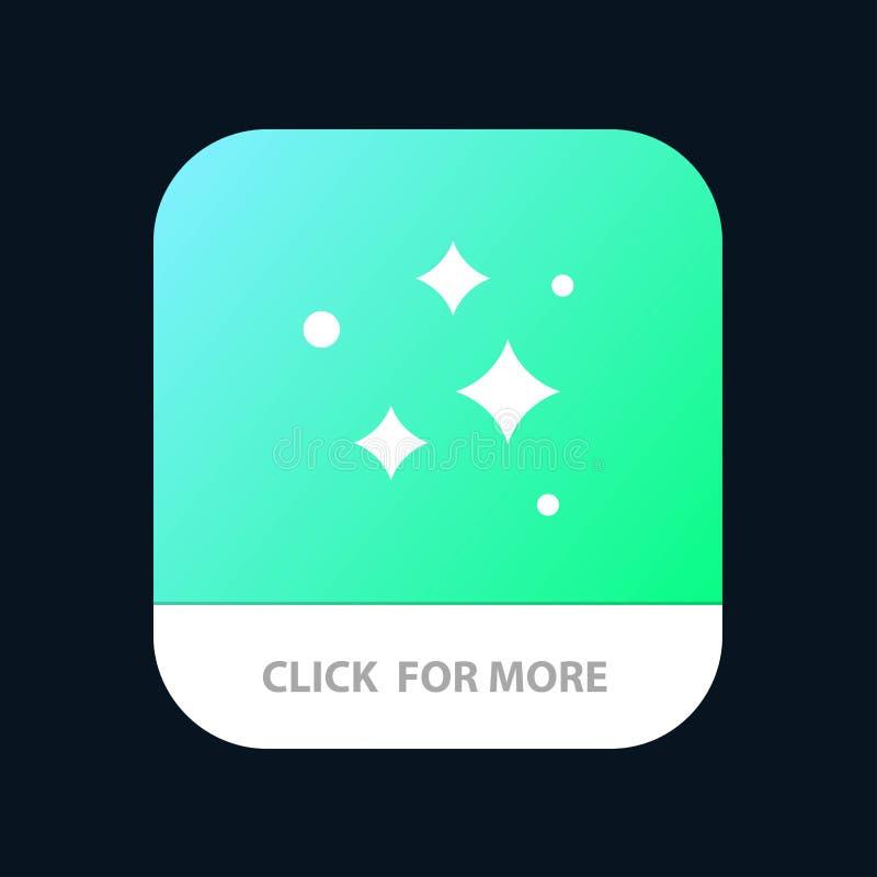 Καθαρός, καθαρισμός, τακτοποιημένος, πλύσιμο, πλένοντας κινητό App κουμπί Αρρενωπή και IOS Glyph έκδοση απεικόνιση αποθεμάτων