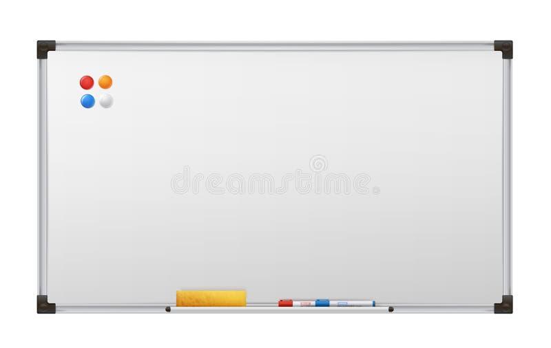 Καθαρός πίνακας δεικτών, κενός άσπρος πίνακας διαφημίσεων παρουσίασης απεικόνιση αποθεμάτων