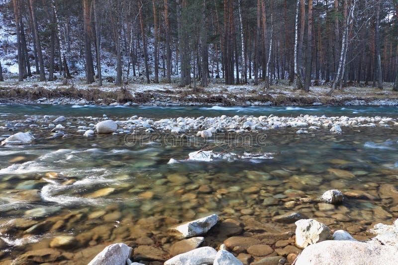 Καθαρός ποταμός βουνών στοκ φωτογραφία
