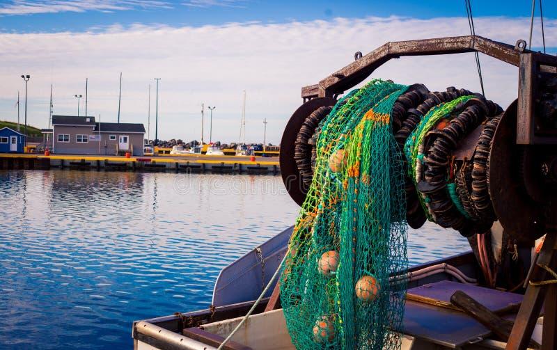 Καθαρός σε ένα αλιευτικό πλοιάριο αλιείας στοκ φωτογραφία με δικαίωμα ελεύθερης χρήσης