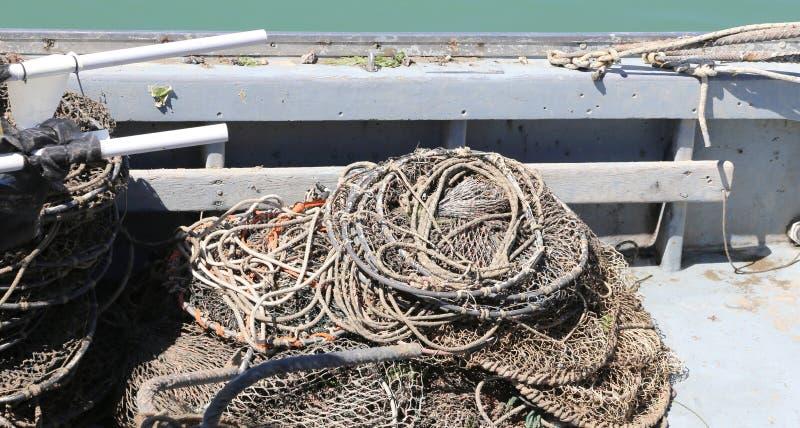 Καθαρός σε μια βάρκα στοκ εικόνες με δικαίωμα ελεύθερης χρήσης