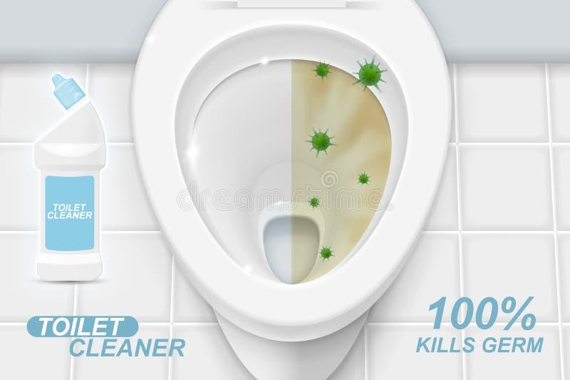 Καθαρότερες αγγελίες πηκτωμάτων τουαλετών ελεύθερη απεικόνιση δικαιώματος
