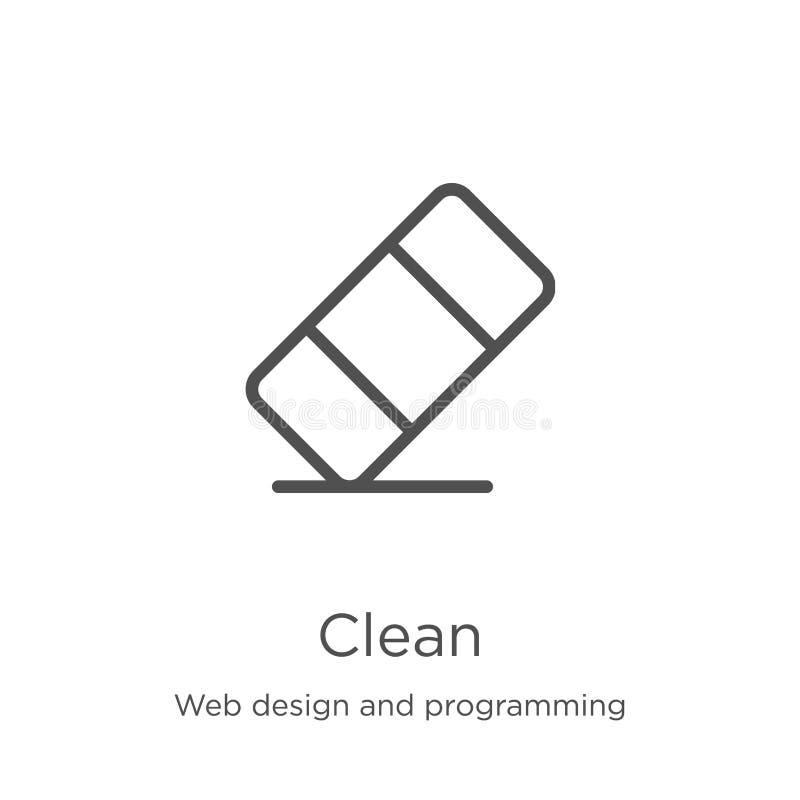 καθαρό διάνυσμα εικονιδίων από το σχέδιο Ιστού και τη συλλογή προγραμματισμού Λεπτή διανυσματική απεικόνιση εικονιδίων περιλήψεων απεικόνιση αποθεμάτων