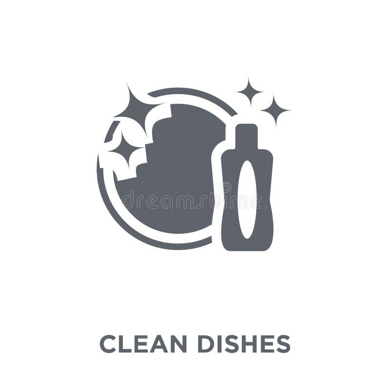 Καθαρό εικονίδιο πιάτων από τη συλλογή ελεύθερη απεικόνιση δικαιώματος