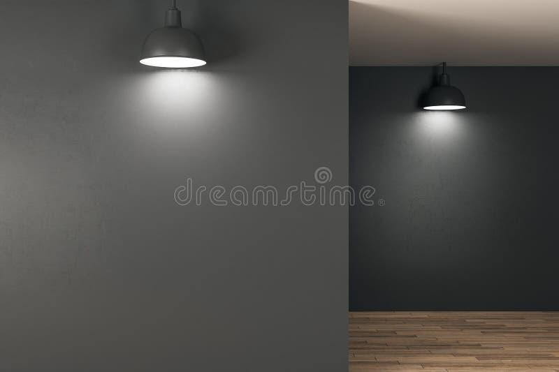 Καθαρό εσωτερικό με το διάστημα αντιγράφων διανυσματική απεικόνιση