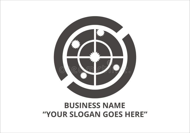 Καθαρό διάνυσμα επιχειρησιακών εκλεκτής ποιότητας προτύπων λογότυπων διανυσματική απεικόνιση