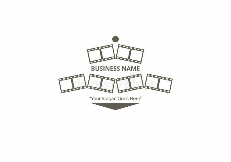 Καθαρό διάνυσμα προτύπων επιχειρησιακών ταινιών λογότυπων απεικόνιση αποθεμάτων