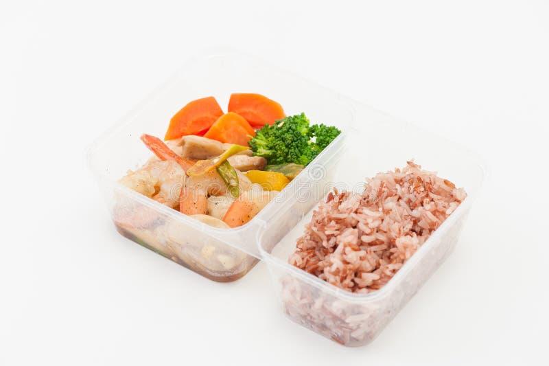 Καθαρό καλαθάκι με φαγητό τροφίμων στοκ φωτογραφία