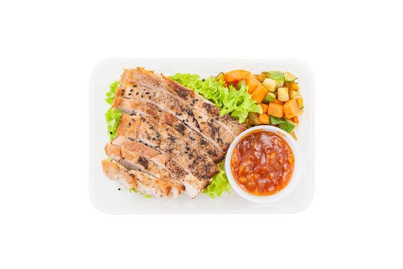 Καθαρό καλαθάκι με φαγητό τροφίμων στοκ εικόνα με δικαίωμα ελεύθερης χρήσης