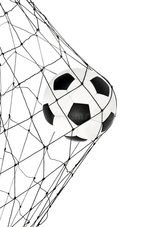 καθαρό ποδόσφαιρο πυλών σφαιρών στοκ εικόνα