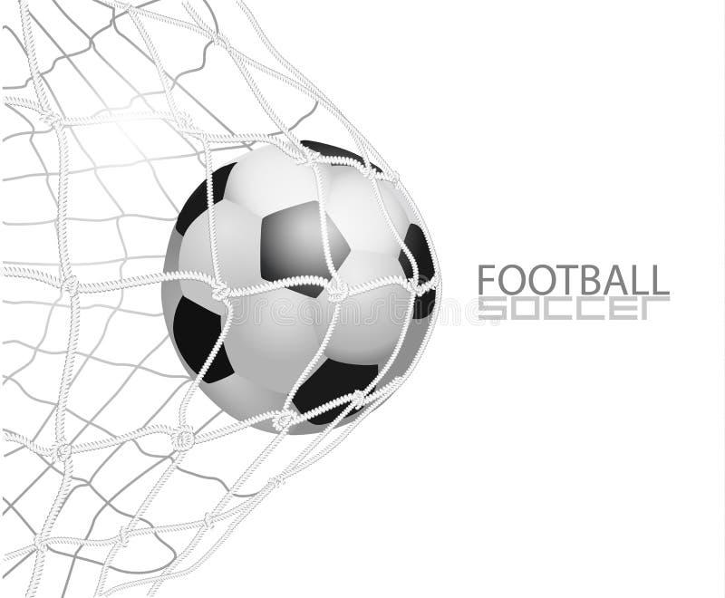 καθαρό ποδόσφαιρο σφαιρών Απομονωμένος στο άσπρο υπόβαθρο, διανυσματική απεικόνιση απεικόνιση αποθεμάτων
