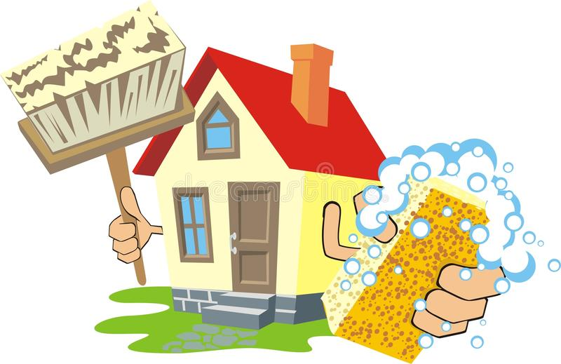 καθαρό σπίτι διανυσματική απεικόνιση