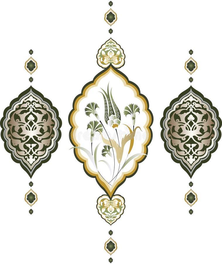 καθαρό σχέδιο Οθωμανός πα διανυσματική απεικόνιση