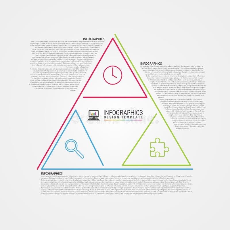 Καθαρό σχέδιο Πρότυπο Infographic Ύφος τριγώνων διάνυσμα διανυσματική απεικόνιση