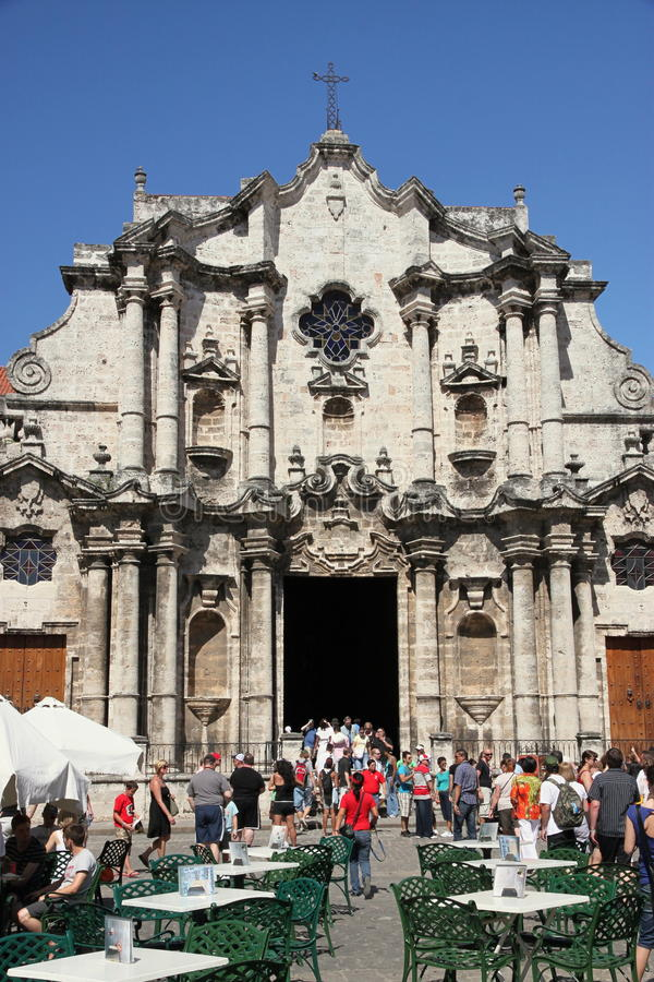 καθεδρικός ναός Αβάνα στοκ εικόνα με δικαίωμα ελεύθερης χρήσης