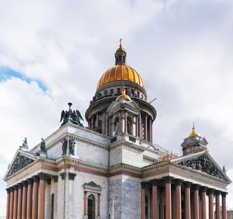 Καθεδρικός ναός Αγίου Isaac στην Αγία Πετρούπολη, Ρωσία στοκ φωτογραφία