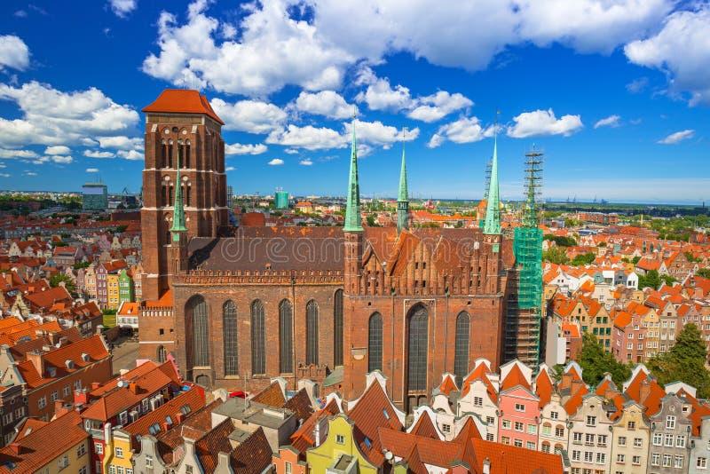Καθεδρικός ναός Αγίου Mary στην παλαιά πόλη του Γντανσκ στοκ εικόνες με δικαίωμα ελεύθερης χρήσης