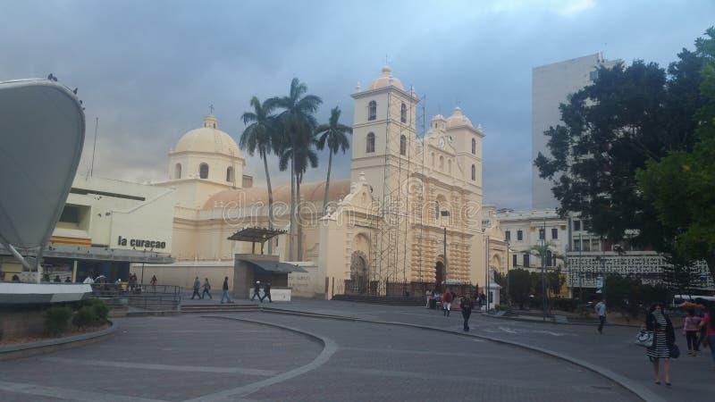 Καθεδρικός ναός ασβέστιο της Τεγκουσιγκάλπα, Ονδούρα στοκ φωτογραφία με δικαίωμα ελεύθερης χρήσης