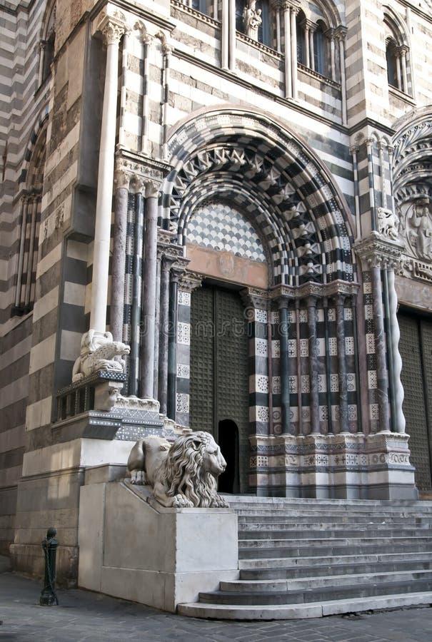 καθεδρικός ναός Γένοβα Lorenzo S στοκ φωτογραφίες με δικαίωμα ελεύθερης χρήσης