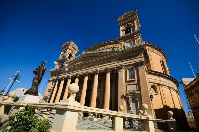Καθεδρικός ναός θόλων Mosta, Μάλτα στοκ εικόνα με δικαίωμα ελεύθερης χρήσης