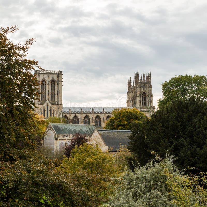 Καθεδρικός ναός μοναστηριακών ναών της Υόρκης, Υόρκη Αγγλία UK στοκ εικόνα με δικαίωμα ελεύθερης χρήσης