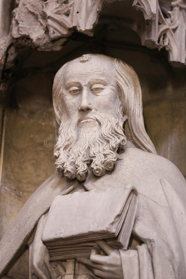 Καθεδρικός ναός Οβηέδο - άγαλμα του σημαδιού Αγίου στοκ εικόνες με δικαίωμα ελεύθερης χρήσης