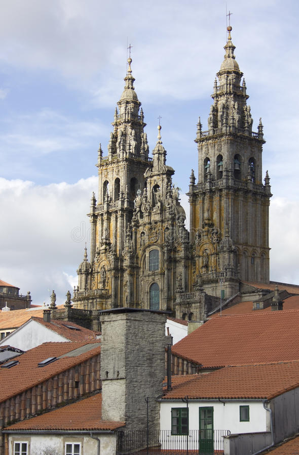 καθεδρικός ναός Σαντιάγ&omicro στοκ εικόνες