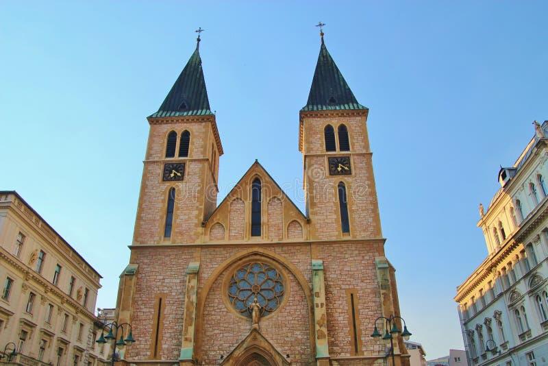 Καθεδρικός ναός στην παλαιά πόλη του Σαράγεβου, Βοσνία-Ερζεγοβίνη στοκ φωτογραφίες