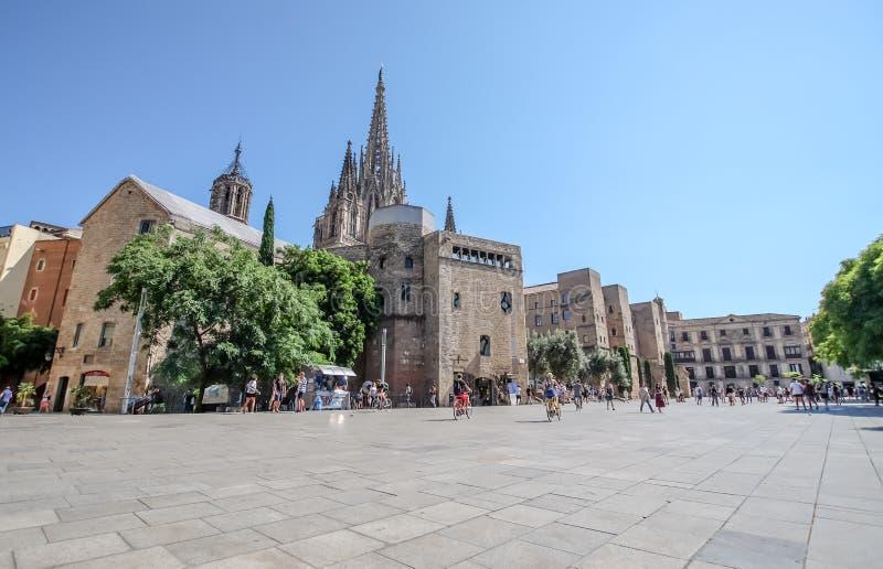 Καθεδρικός ναός της Βαρκελώνης στοκ φωτογραφίες με δικαίωμα ελεύθερης χρήσης