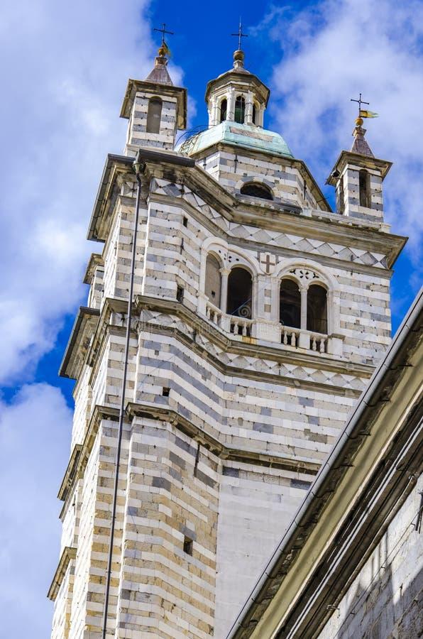 Καθεδρικός ναός της Γένοβας στην Ιταλία στοκ εικόνα με δικαίωμα ελεύθερης χρήσης