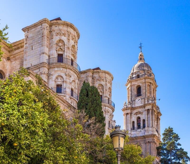Καθεδρικός ναός της ενσάρκωσης στη Μάλαγα, Ισπανία στοκ φωτογραφία με δικαίωμα ελεύθερης χρήσης