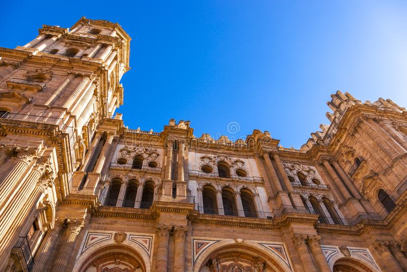 Καθεδρικός ναός της ενσάρκωσης στη Μάλαγα, Ισπανία στοκ εικόνες