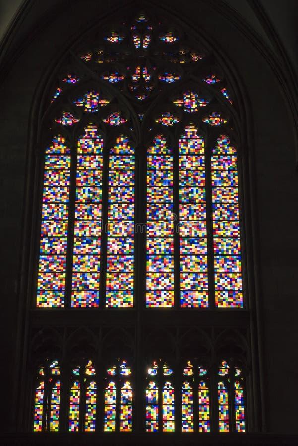 Καθεδρικός ναός της Κολωνίας - Gerhard Richter - λεκιασμένο παράθυρο γυαλιού στοκ εικόνα με δικαίωμα ελεύθερης χρήσης