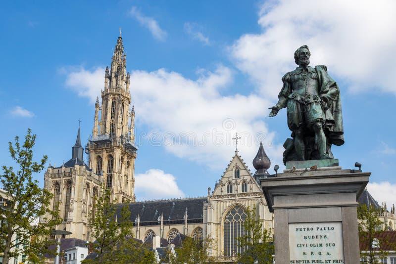 Καθεδρικός ναός της κυρίας μας Αμβέρσα Βέλγιο στοκ εικόνα