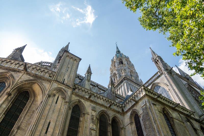 Καθεδρικός ναός της κυρίας μας Bayeux ή Cathedrale Notre-Dame de Bayeux Τμήμα των Καλβάδος, Νορμανδία, Γαλλία στοκ εικόνα