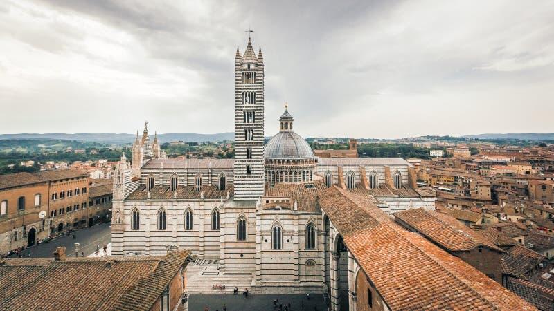 Καθεδρικός ναός της Σιένα το ιστορικό κέντρο στοκ εικόνα