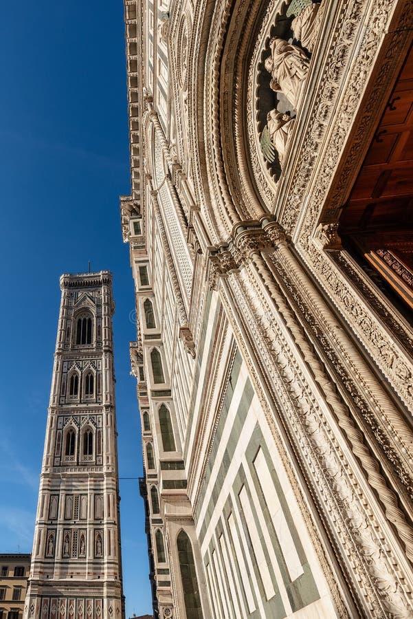 Καθεδρικός ναός της Φλωρεντίας και πύργος κουδουνιών Giotto - Τοσκάνη Ιτα στοκ φωτογραφία με δικαίωμα ελεύθερης χρήσης