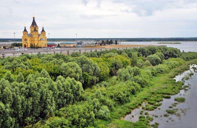 Καθεδρικός ναός του Αλεξάνδρου Nevsky σε Nizhny Novgorod, Ρωσία στοκ φωτογραφία με δικαίωμα ελεύθερης χρήσης