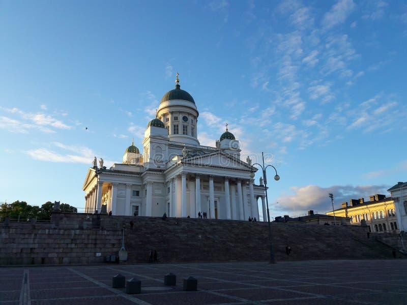 Καθεδρικός ναός του Ελσίνκι και τετράγωνο Συγκλήτου, Φινλανδία στοκ εικόνες με δικαίωμα ελεύθερης χρήσης
