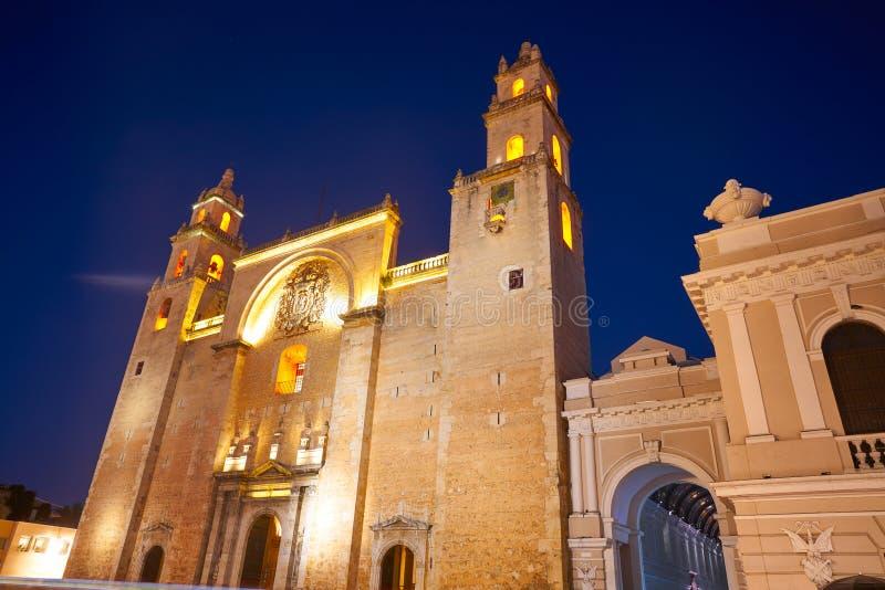 Καθεδρικός ναός του Μέριντα SAN Idefonso Yucatan στοκ εικόνες