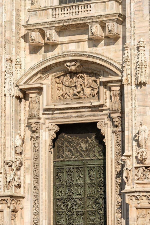 Καθεδρικός ναός του Μιλάνου - Di Duomo Μιλάνο - Ιταλία στοκ εικόνες